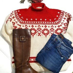 Eddie Bauer Vintage White Nordic Sweater Size M